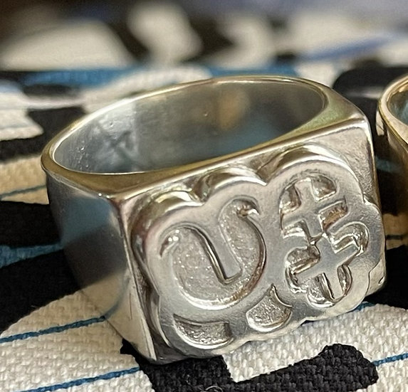 MQ Silver Bubble Ring