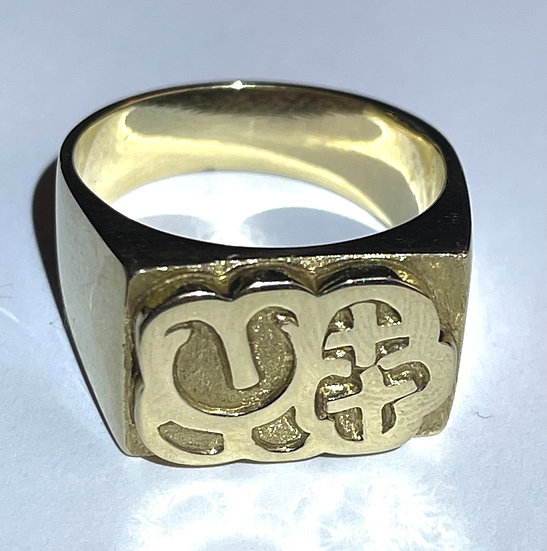 MQ Solid Gold Bubble Ring 13.5