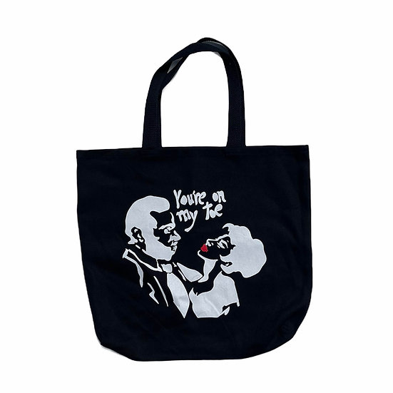 """Rossi x Eclair Bandersnatch """"You're On My Toe"""" Tote Bag"""