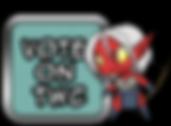 Atom Bug Vote Button