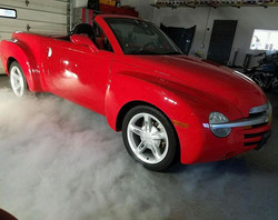 Just a bunch of Smoke and Mirrors 😎 This 04 Chevy SSR was in for our Level 2 Detail and some fresh
