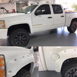 Custom color match rocker panels and bushwhacker fender flares, coated with our _scorpioncoatings be