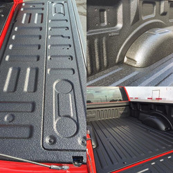 A fresh new _scorpioncoatings truck bed liner installed here at Shine Auto Detail!  2016 F150 8' bed