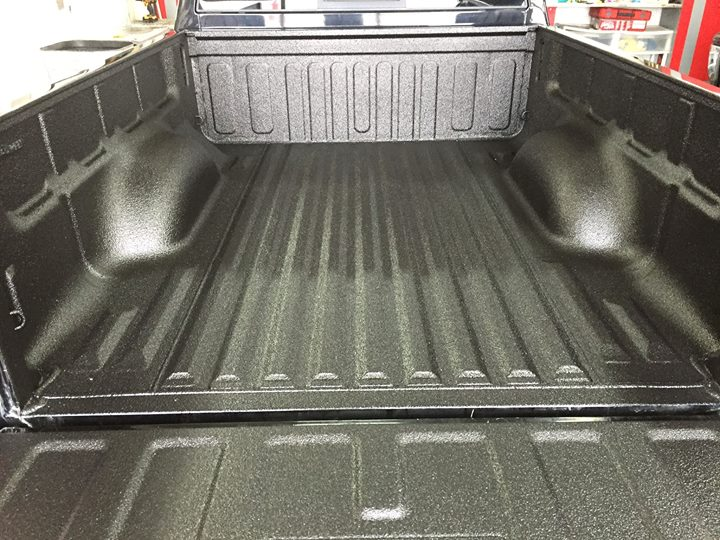 A nice new Scorpion Bed Liner system installed in this 2007 Chevy Colorado