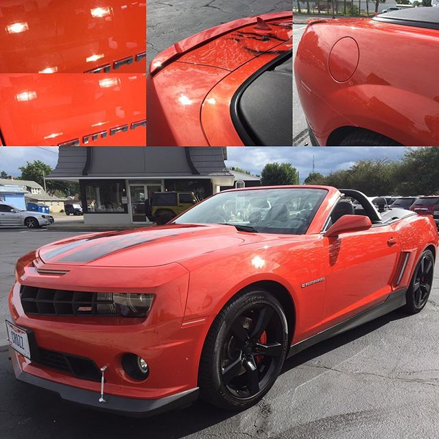 This 2011 Chevy Camaro SS came to us with some marring and some isolated scratches in the clear coat