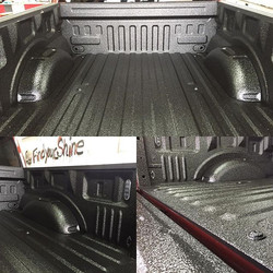 Knocked out this _scorpioncoatings bed liner on a 2016 Ford F-150 late last night! Came out awesome!
