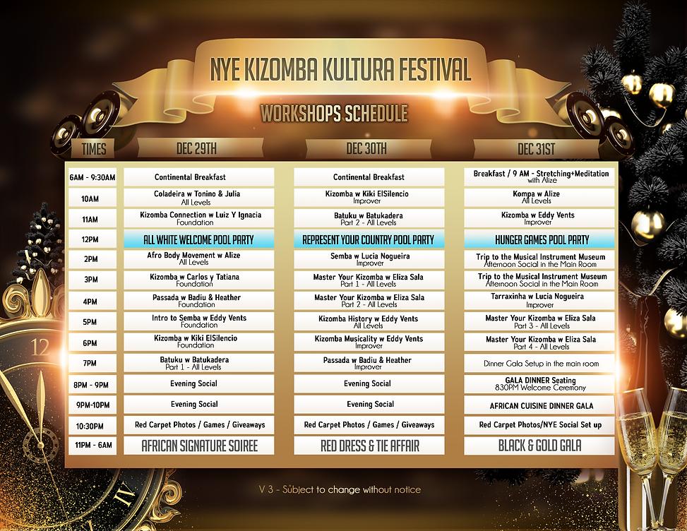 NYE Kizomba Kultura Festival Schedule.pn