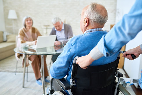 handicapped-man-in-retirement-home-JQSFK