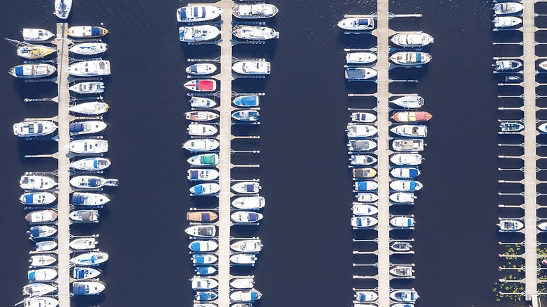 aerial-view-by-drone-of-yacht-club-and-m