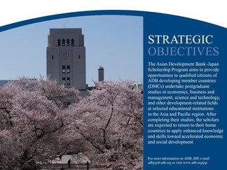 The Asian Development Bank/Japan Scholarship Program (JSP), 2021-22