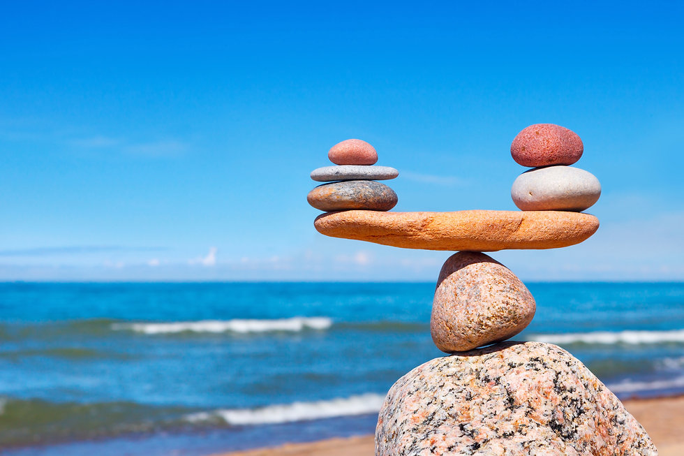 Concept of harmony and balance. Balance