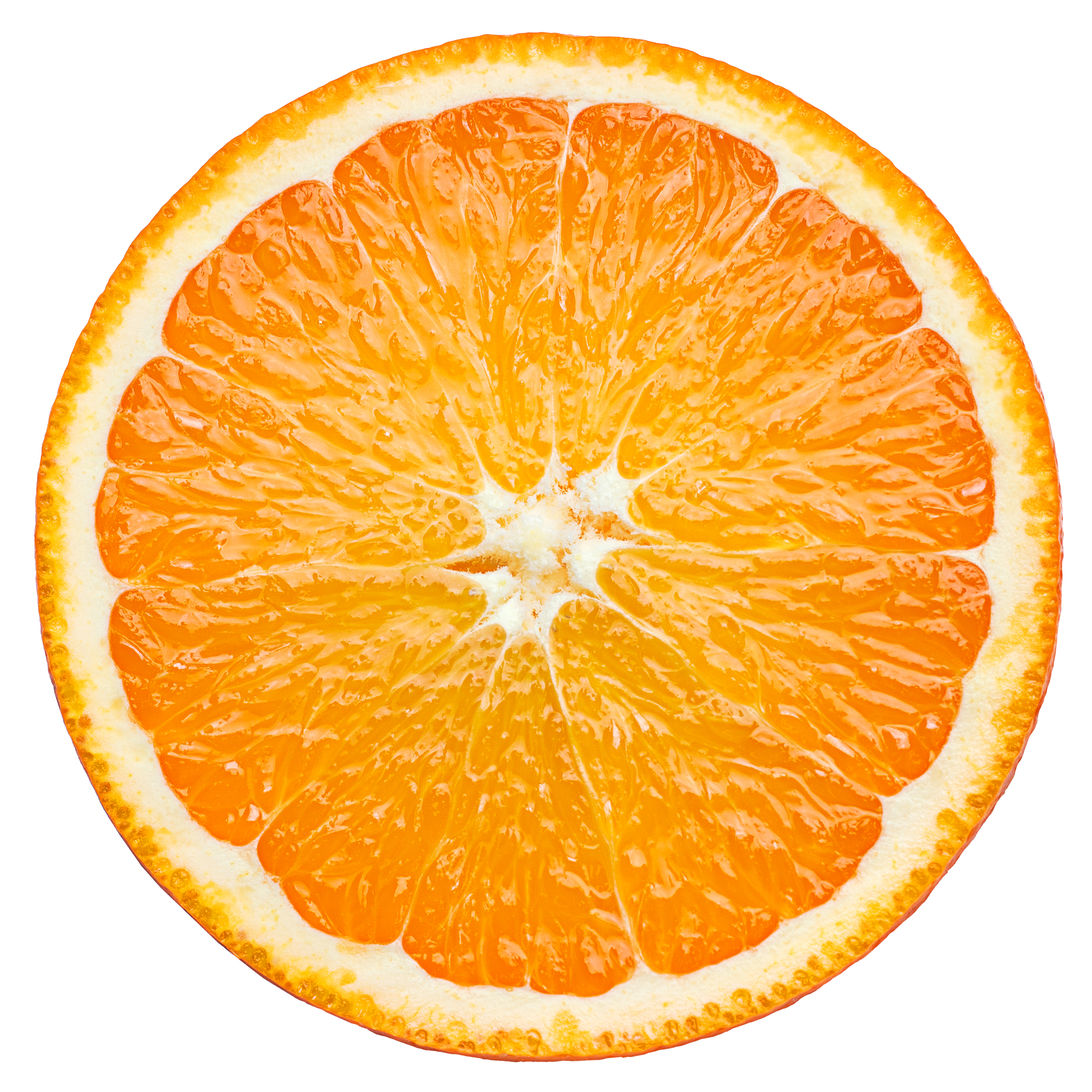 orange slice, clipping path, isolated on