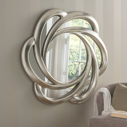 Large Swirl Contemporary Mirror