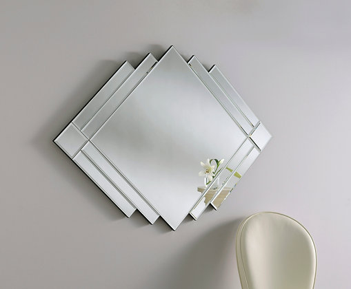 Diamond-shape Art Deco Wall Mirror