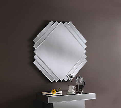 Diamond/Square Art Deco Wall Mirror