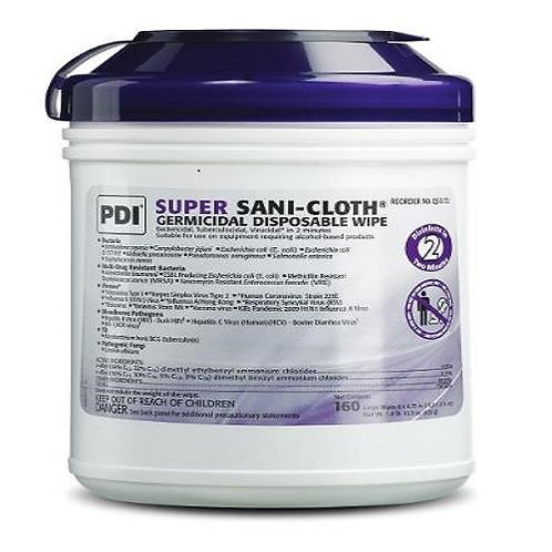Sani SUPER Surface Disinfectant Germicidal Wipes, Large, 160/canister