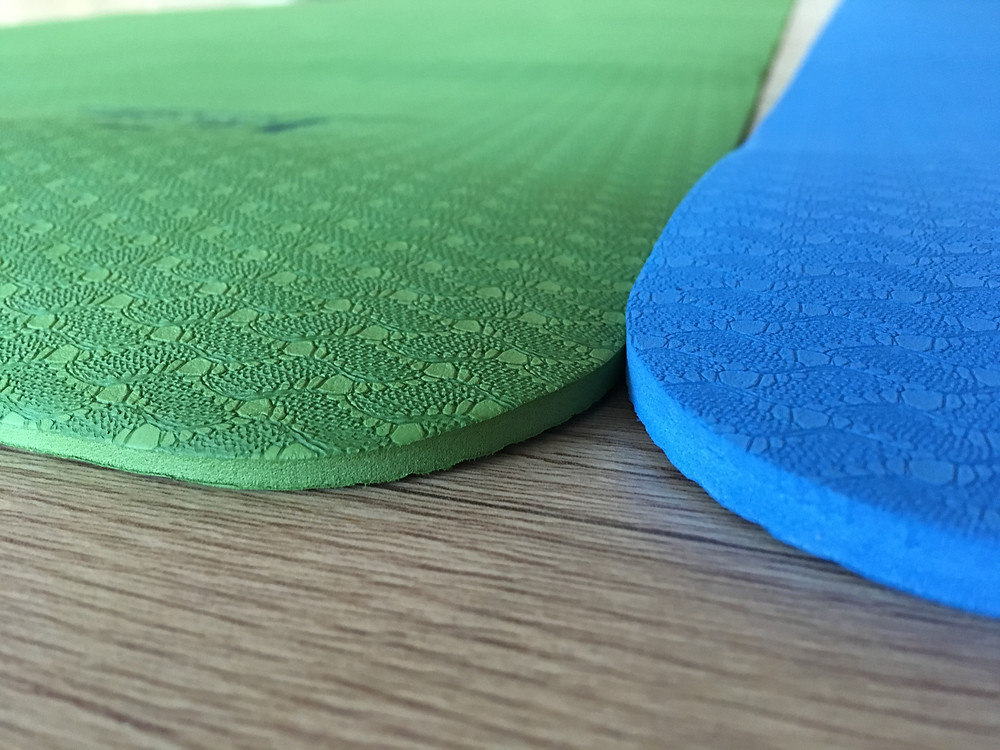 TPC mats, one broader than a normal mat