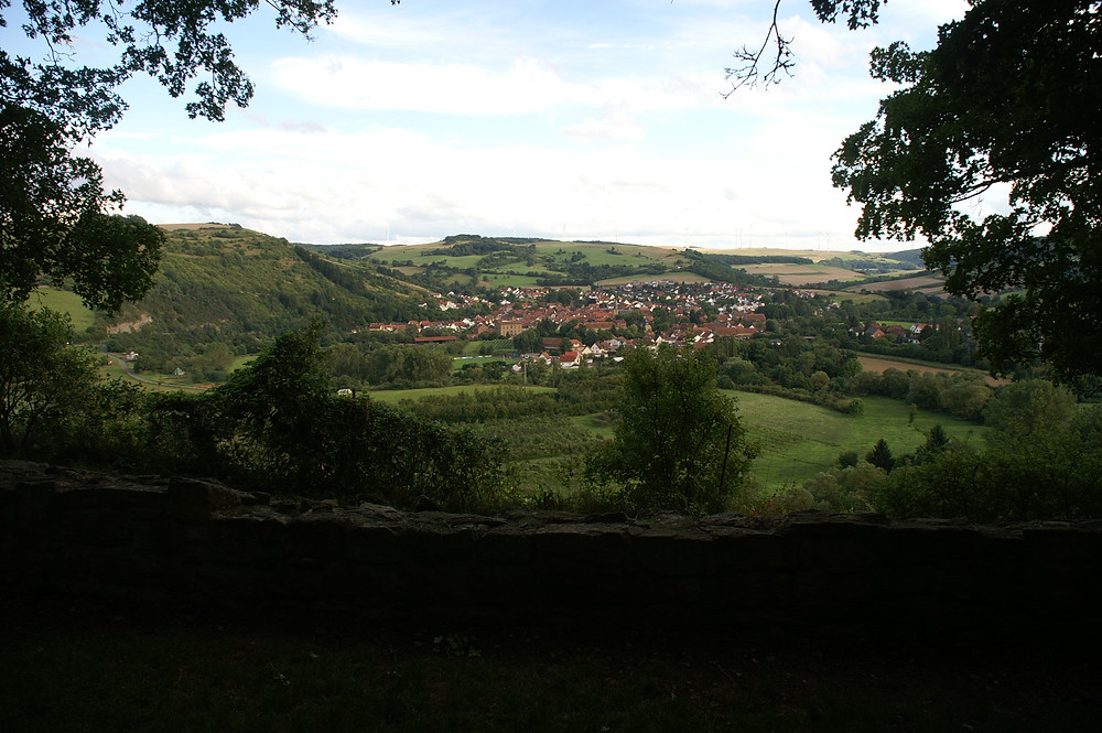 View from Laienkapelle at Disibodenberger Ruine.