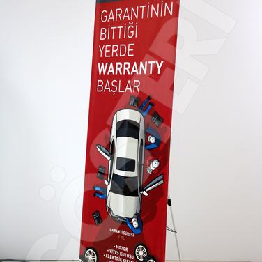 80x180 cm X Banner