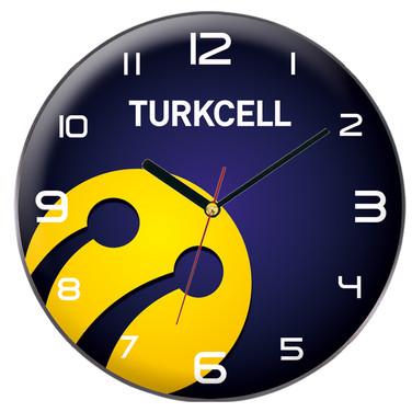 35 cm Özel Baskılı Cam Duvar Saati