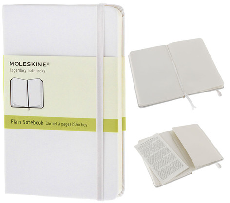 Notebook Pocket Plain White Hard