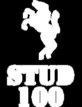stud100 - logo - icon+nameplate - white-