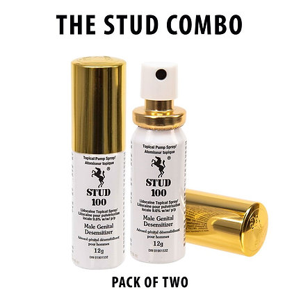 STUD 100 - Male Genital Desensitizer Spray - Combo Pack