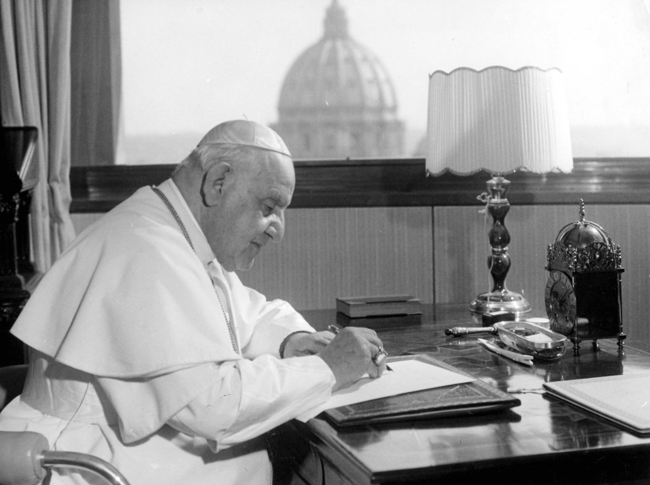 Vatican Council II, held in the early 1960s, addressed relations between the Catholic Church and the modern world. It brought about radical changes in the Church and in all communities of religious men and women. Pope John XXIII, shown here, initiated the council's far-reaching changes.