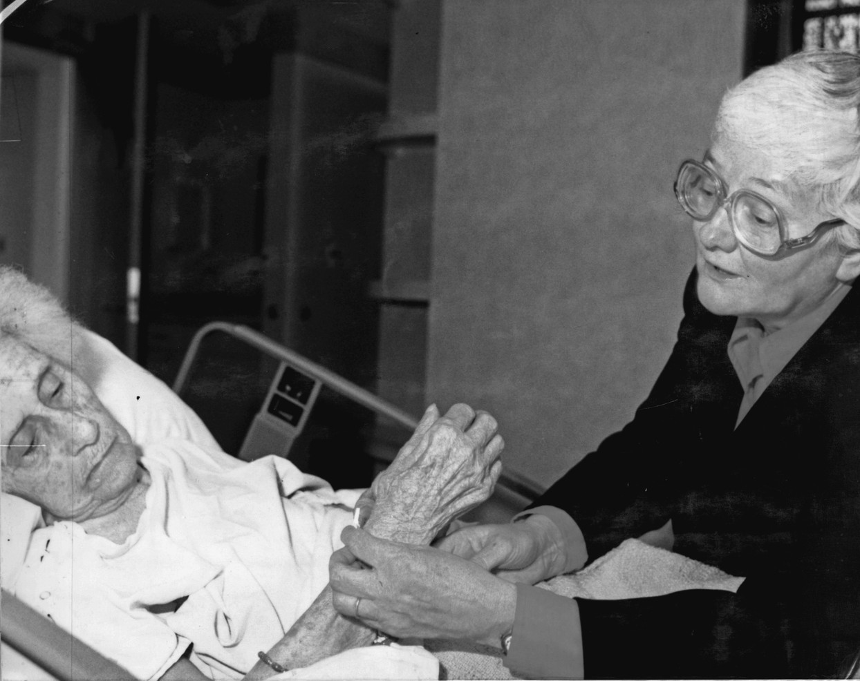 """Sr. Olivia Prendergast, known as """"Mother Teresa of the Panhandle,"""" began a hospice program in 1980 at St. Anthony's Hospital in Amarillo, Texas. Sr. Mary Bryan Sherry also began a hospice program, at Santa Rosa Hospital in San Antonio."""