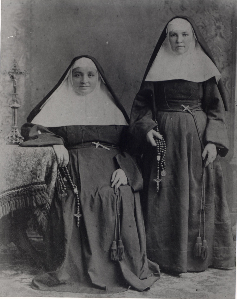 The first three sisters came to San Antonio from Galveston as a small community of committed, faith-filled women, determined to help the people they were called to serve. Pictured are Mother St. Pierre Cinquin (left) and Mother Madeleine Chollet. The third Sister that formed the original community was Sr. Agnes Boissen. Sadly, there are no known photographs of Sr. Agnes.