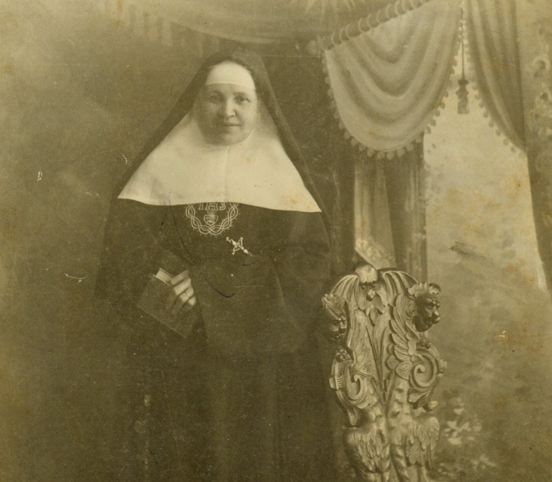 """Sister Stephen Dombey also sought funds for orphans. Sr. Stephen called on a San Antonio businessman and asked for a donation. He responded to her plea by spitting in her hand. Undaunted, Sister looked at him directly and said, """"Thank you, sir. That was for me. Now would you please give me something for the orphans?"""""""