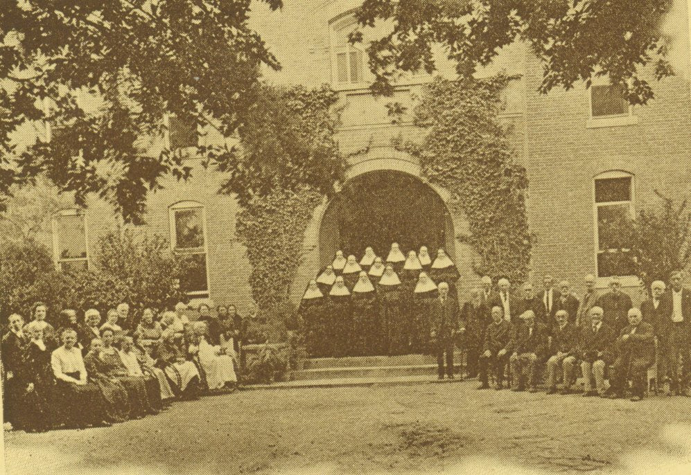 In San Antonio, the elderly were cared for in rooms set aside at the Santa Rosa Infirmary. In 1905, the St. Francis Home for the Aged (pictured) was established. By 1928, because of the growth in the Congregation, only Sisters resided at St. Francis Home.
