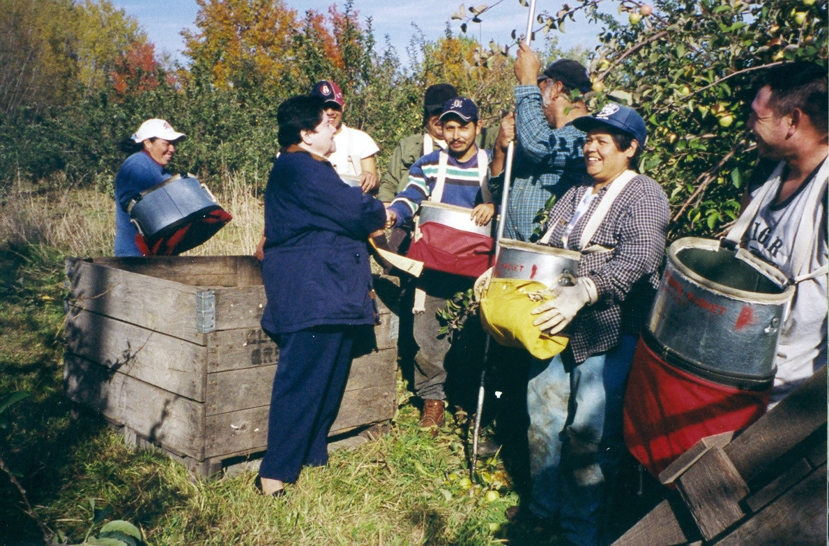 Sr. Guadalupe Moreno, Michigan. Sr. Lupita has served the migrant farm work population in Michigan for many years.