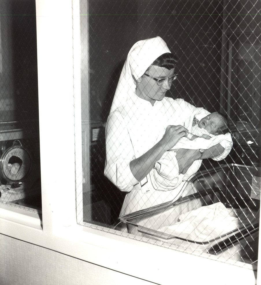 Sr. Kathleen Coughlin, pictured here as a young nurse in 1968, became a hospital administrator. She was the Congregation's last Sister administrator, serving as CEO at Spohn Hospital in Corpus Christi from 1981 to 1995.
