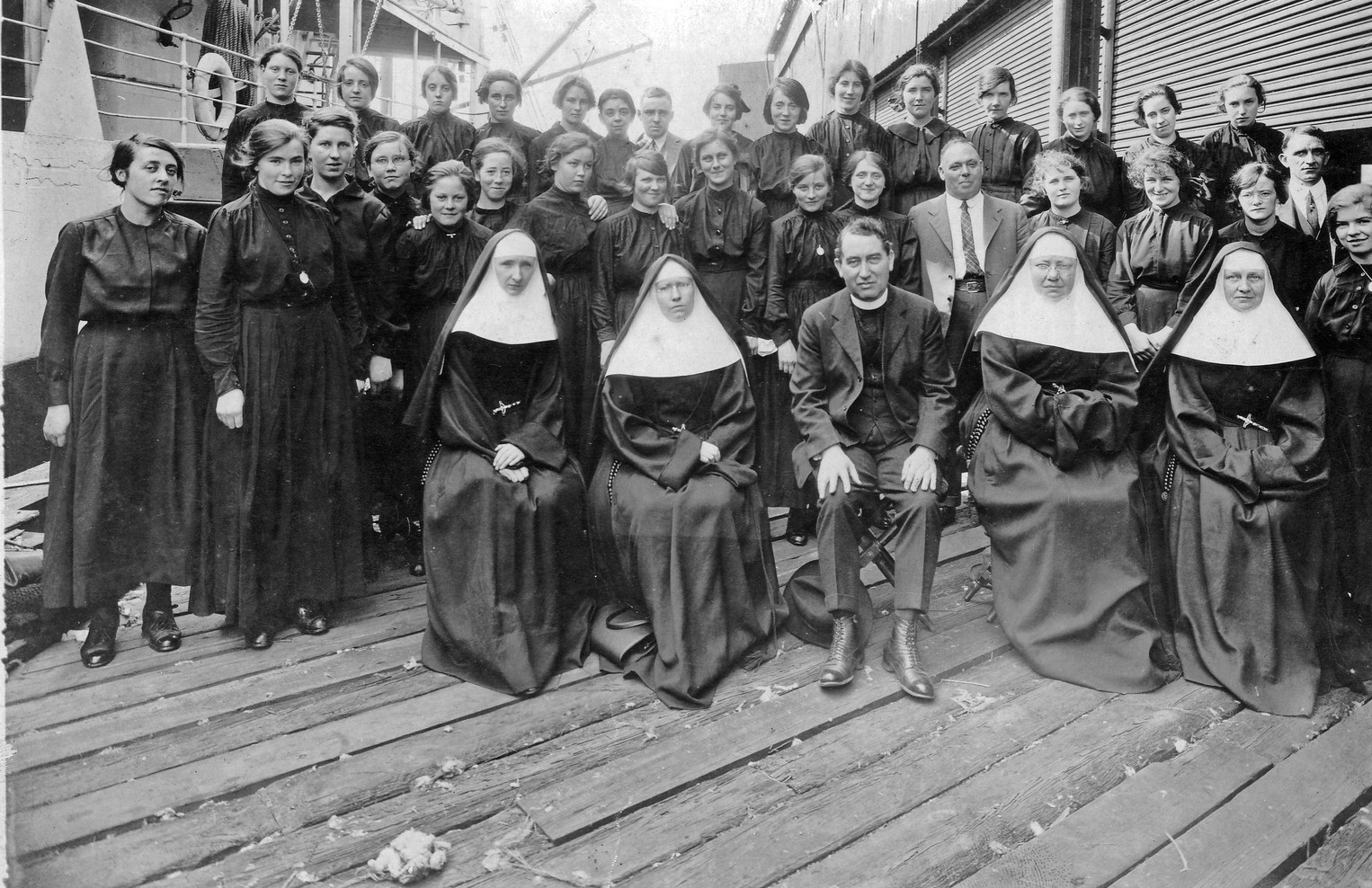Women came to community to serve and responded willingly to the need. Leaving home and family was only one of the many hardships endured for love. These Irish Sisters and postulants sailed from Liverpool on the S.S. Antillian in October 1922.