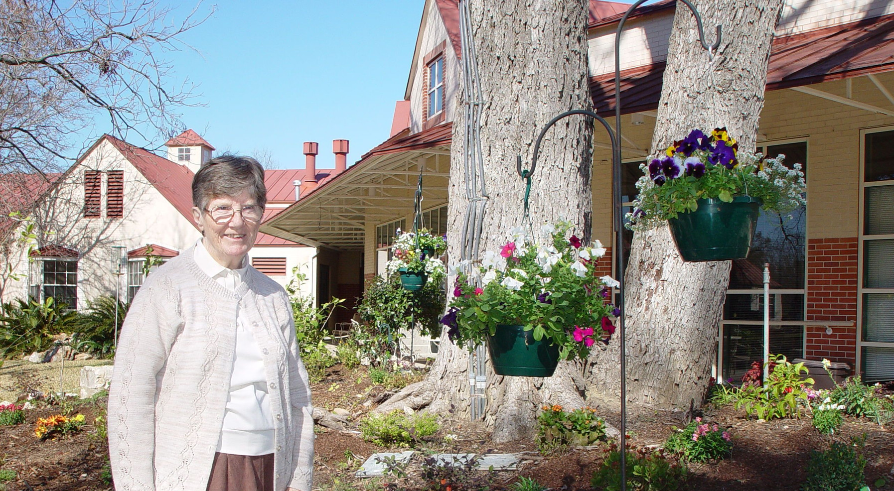 In retirement, Sr. Margaret McCormack planted and maintained a flower garden at the Village at Incarnate Word. It lives on after her death, carefully tended by others, as a celebration of God's gift of creation.