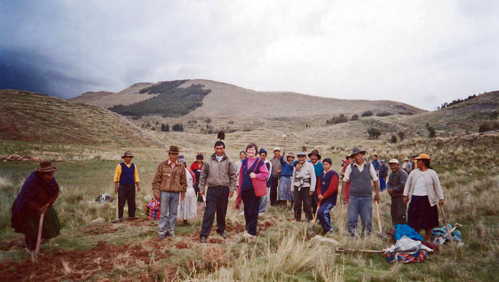 Pictured is Sr. Anne Marie Burke in Huancané. The area had been abandoned by the Peruvian government, allowing terrorist groups to threaten local residents. The Sisters nonetheless taught and trained catechists, organized programs for the youth, and visited prisoners in jail.