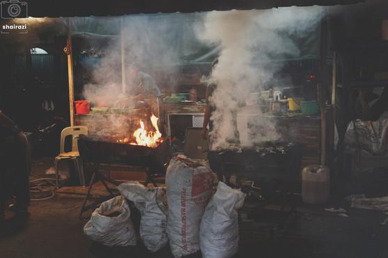Indonesia - Heavy Smoke Amongst Street Food Vendors