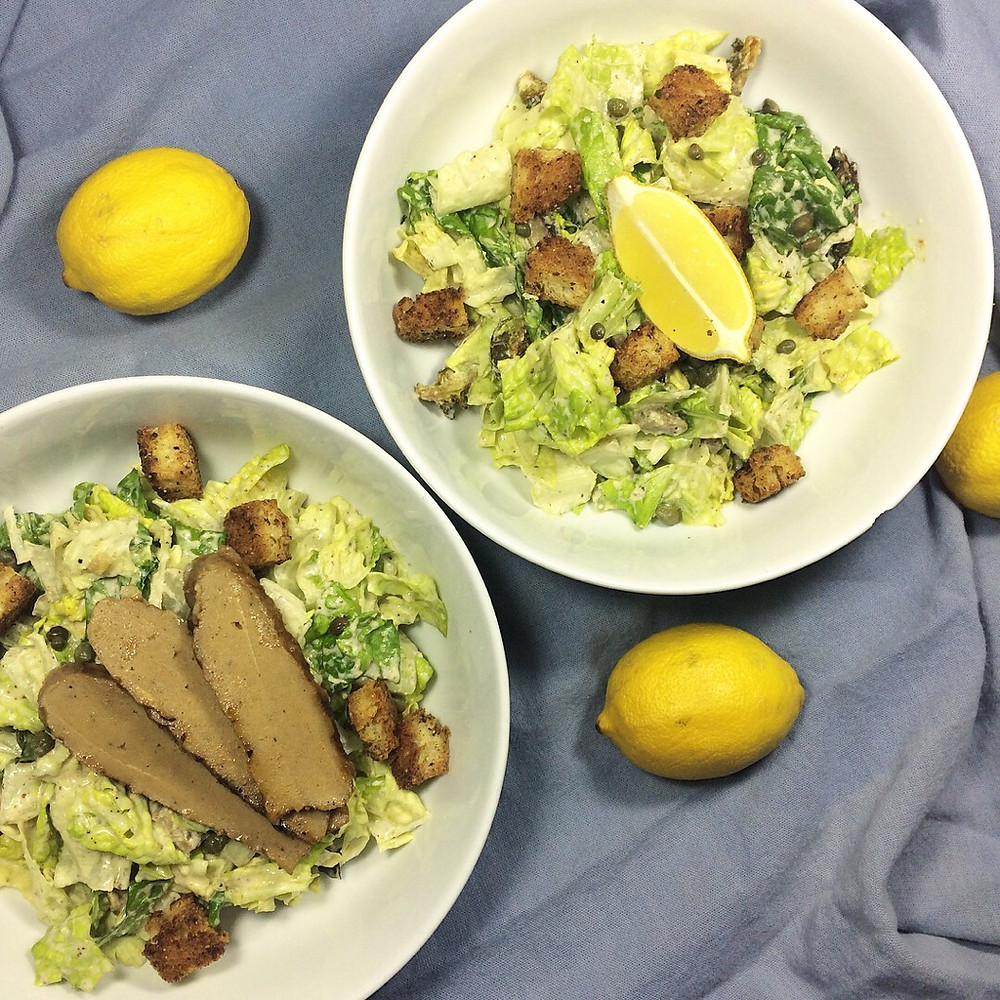 """Vegan Caesar Salad with Grilled """"Chicken"""""""