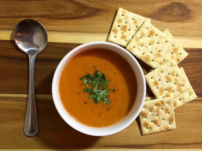 Roasted Red Pepper & Tomato Bisque