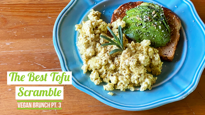 The Best Tofu Scramble | Oil Free
