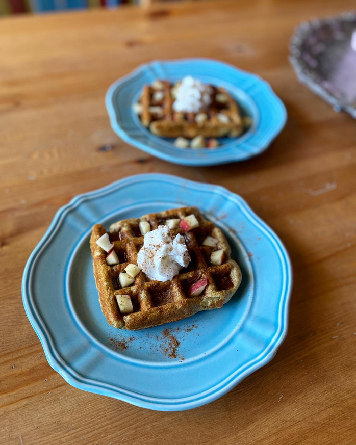 Waffles for One | Oil & Refined Sugar Free!