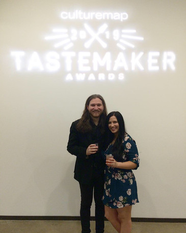 Amaris & David at the Tastemaker Awards