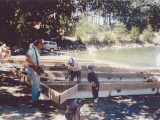 Dock building at Thieves Bay Marina. Photos from the archives.