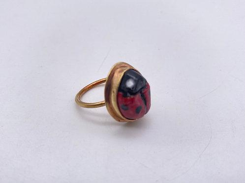 Ladybug 🐞 en Ceramica con brass 6.5