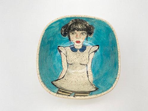 Bowl Mimi Doll in Blue