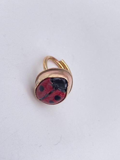 Ladybug 🐞 sortija en brass