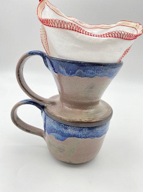 colador de café con taza de 9oz