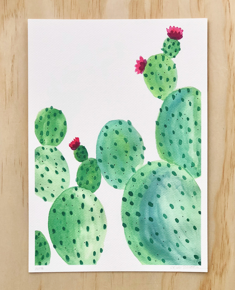 Prickly Beauty / Prickly Pear Cactus Print