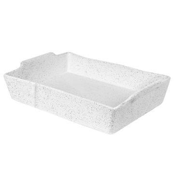 Baker Rect Large - White Granite Feast - Robert Gordon